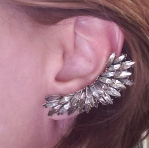Statement earring ear cuff wings